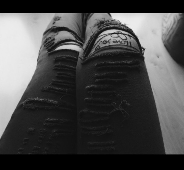 jeans kack clothes destroyed skinny jeans