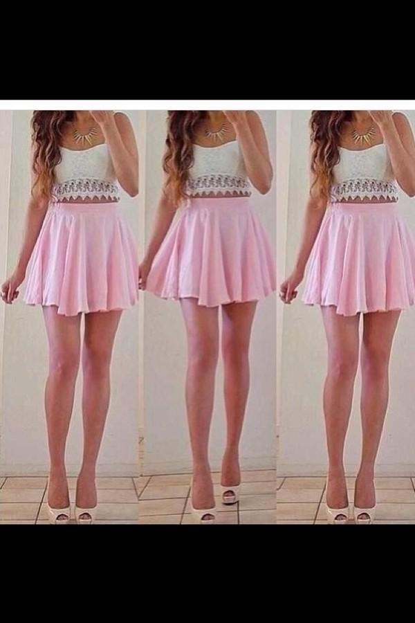 dress skirt shirt shoes