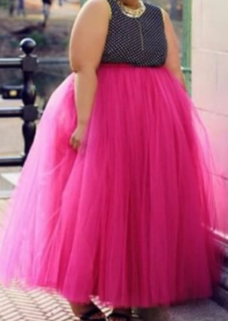 skirt plus size size pink tulle skirt curvy
