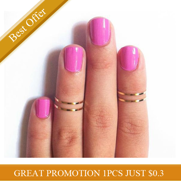 2013 New Fashion Hot Selling Shiny Finger Midi Knuckle Ring Women Two Colors Optional Free Shipping-inRings from Jewelry on Aliexpress.com