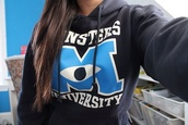 jacket,disney,cute jacket,monster,university,hoodie,sweater,monsters university,monster university,pls,tumblr,monsters inc.,black,white,blue