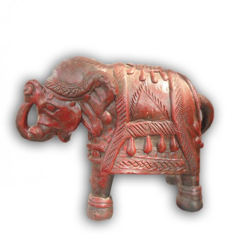 Vintage Red Terracotta Elephant Home Decor