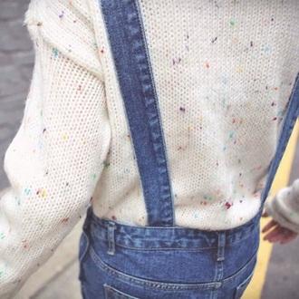 sweater cake glitter confetti ice cream hoodie romper cream
