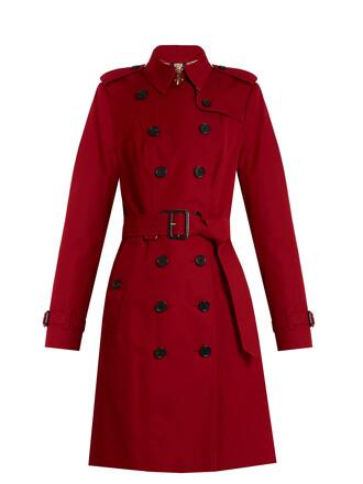 coat trench coat long red