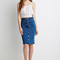 Buttoned denim skirt | forever 21 canada