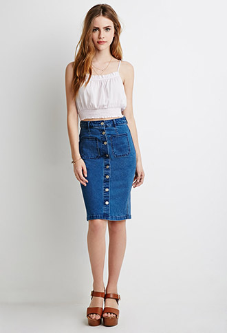 Denim Skirt | Forever 21 Canada