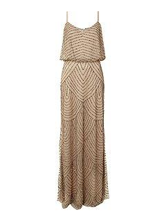 Adrianna papell art deco beaded dress