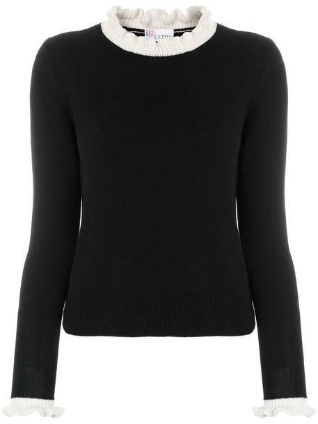 RED VALENTINO sweater women cotton black