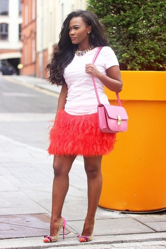 skirt feather skirt feathers fringes