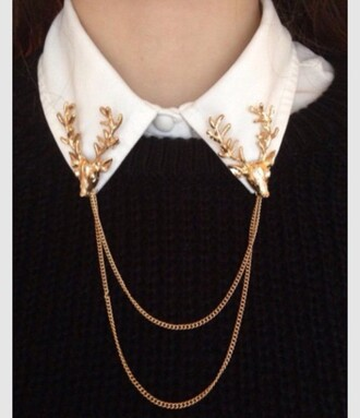 jewels collar clip moose antlers