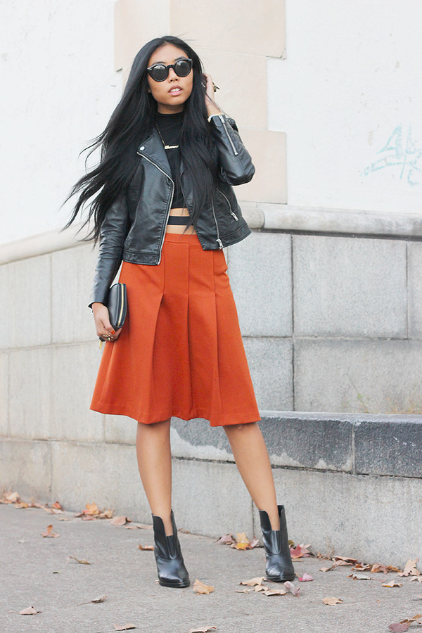 fashion of a novice t-shirt skirt jacket shoes
