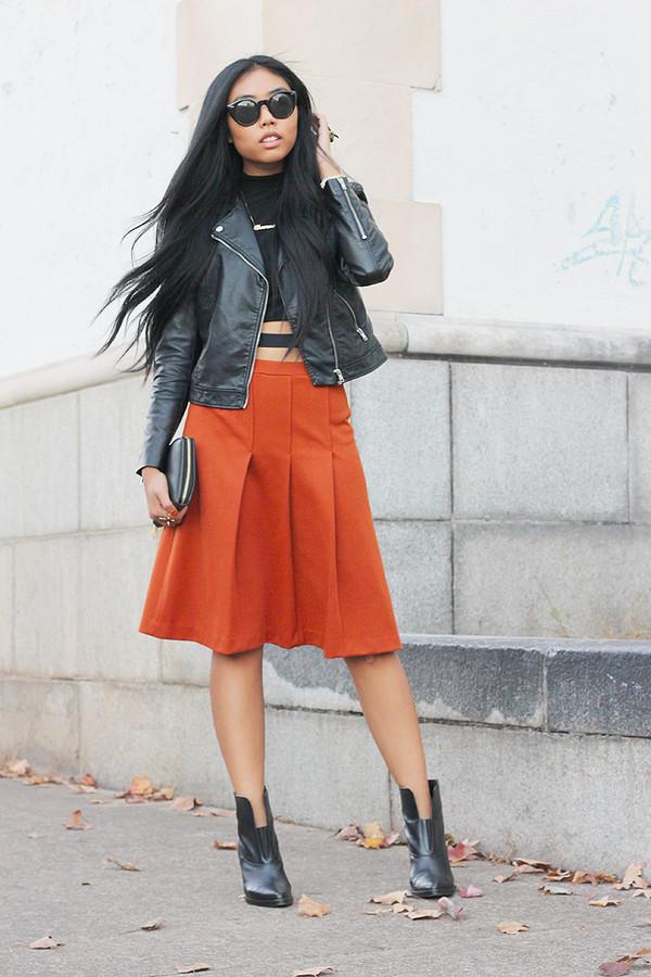 fashion of a novice t-shirt skirt jacket shoes
