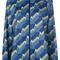 Nike - arrow print jacket - women - nylon/polyester - m, blue, nylon/polyester