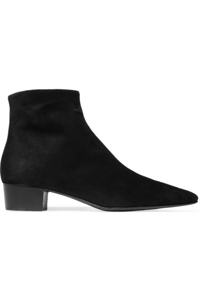 The Row Ambra Suede Ankle Boots in black