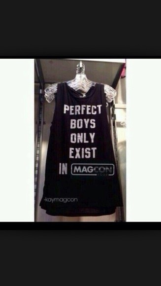t-shirt fashion magcon magcon boys magcon/viners tank top hipster indie black