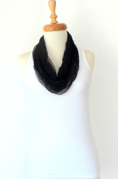 black scarf scarf tulle scarf christmas birthday necklace accessories