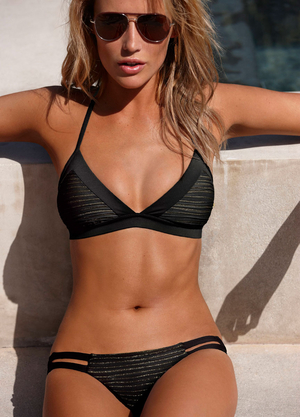 ISIS BLACK ROTHKO HALTER BRALETTE   NEUTRA HIPSTER BOTTOM - VITAMIN A SWIMWEAR