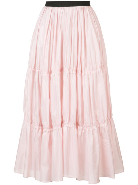 Tome long tiered skirt - Pink & Purple