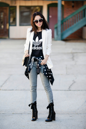 fit fab fun mom,blogger,t-shirt,jacket,jeans,shoes,bag,sunglasses,jewels