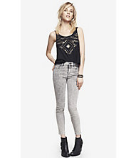 HIGH RISE ACID WASH ANKLE JEAN LEGGING from EXPRESS
