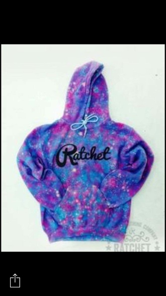 jacket nebula ratchet space galaxy print hoodie