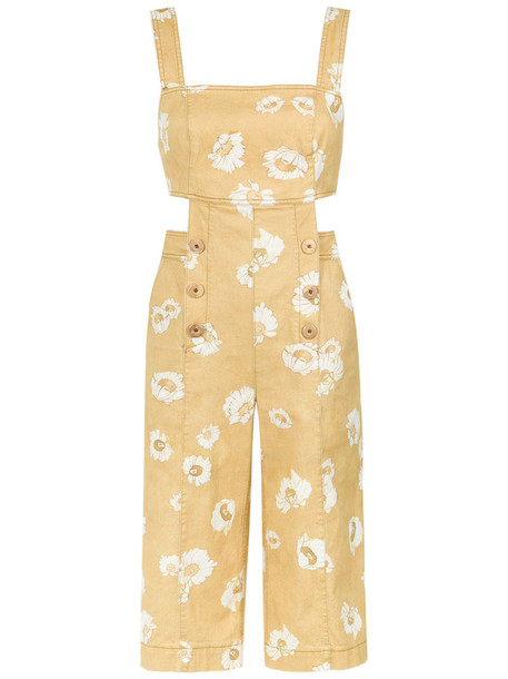 Sissa jumpsuit cropped jumpsuit cropped women spandex cotton yellow orange