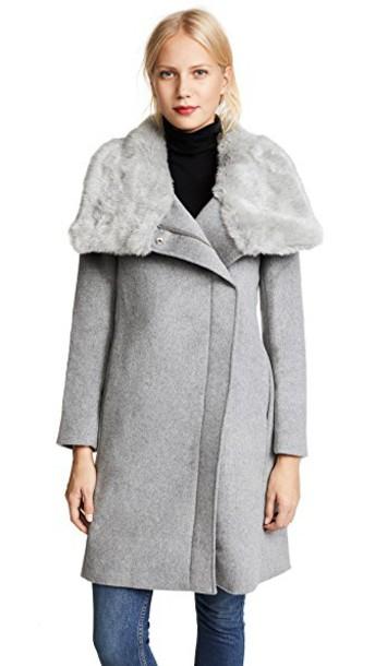 Club Monaco coat grey heather grey