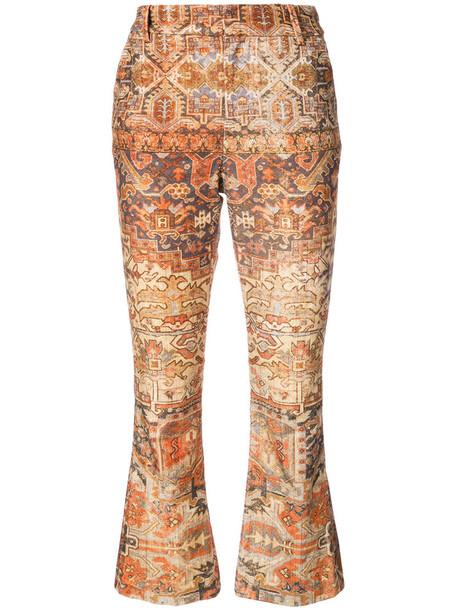 Frame Denim pants women spandex cotton brown
