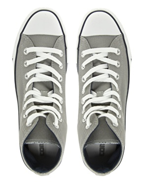 Converse | Converse All Star Grey Double Tongue High Top Trainers at ASOS