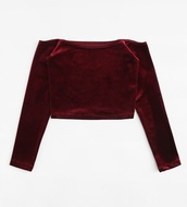 blouse,girly,burgundy,off the shoulder,off the shoulder top,velvet,crop tops,cropped,crop