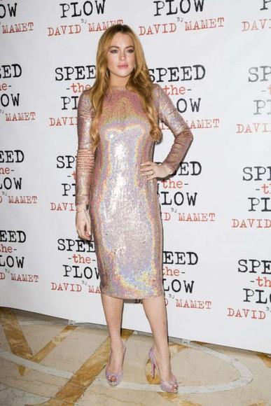 lindsay lohan sparkly dress dress sparkly prom dress