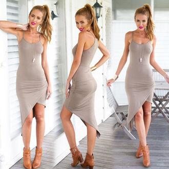 dress nude nude color nude dress khaki khaki dress irregular irregular dress tan tan dress tank dress