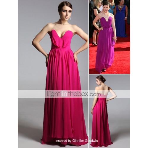 Length evening dress inspired by ginnifer goodwin at emmy award (fsd0352)