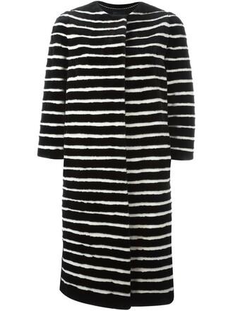 coat fur coat fur women black