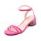 Marc jacobs olivia city sandals - fuchsia