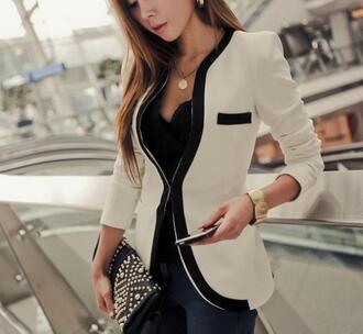 coat beige blazer girl nice fab fashion beautiful business blazer sexy hot style blazer fabulous glamour
