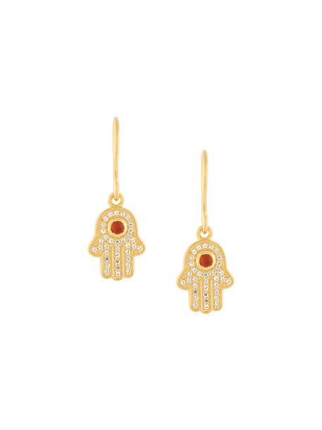 Astley Clarke women earrings gold white grey metallic jewels