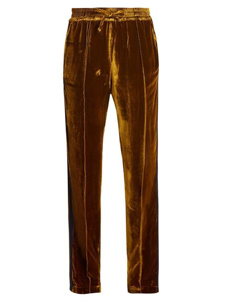 SERENA BUTE velvet camel pants