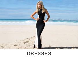 White V Plunge Front - Dress | Lookbook Store