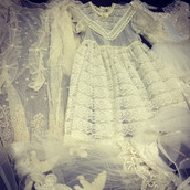dress,lace,white,tumblr,transparent,flowers,nodes,stars,kitchie,kawaii,vintage,princess,cute dress,cute,cute  outfits,lolita,cool,collar