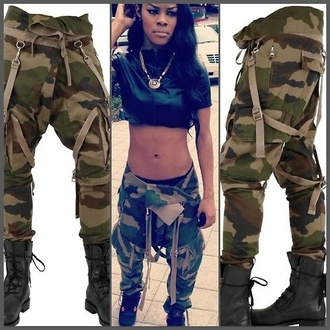 camouflage cargo pants cloths