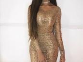 dress,gold embroidered dress,glitter dress,off the shoulder dress,gold detailed sheer dress