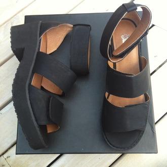 shoes blackshoes sandal heels open toes platform sandals