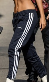pants,classic adidas track pants,navy and white