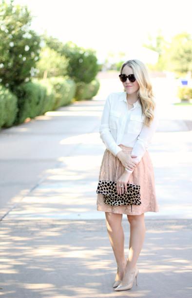 a beautiful heart blogger skirt top bag jewels shoes sunglasses