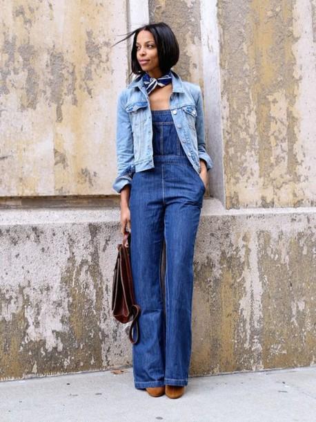 0c74c95de jeans blue scarf suede boots brown suede boots brown handbag denim overalls  denim jacket denim double