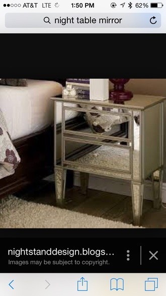 home accessory mirror night table