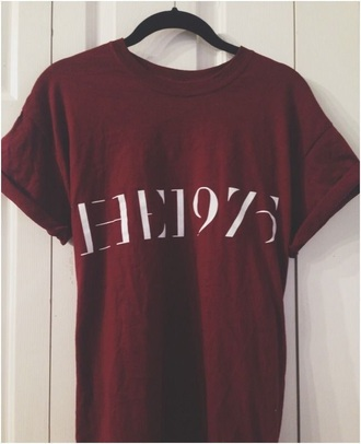 shirt the 1975 burgundy