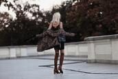 meri wild,blogger,coat,top,skirt,bag,shoes,jewels