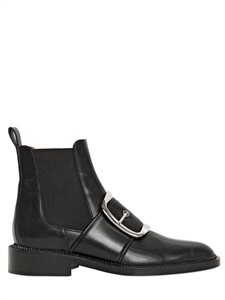 LUISAVIAROMA.COM - GIVENCHY - 30MM TINA BUCKLE LEATHER ANKLE BOOTS